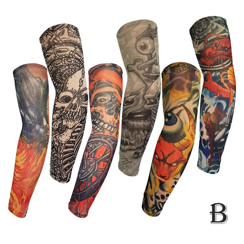 Beauty7 Manicotto Braccio Elastico Copertura del Tatuaggio UV Protezione per Uomo Donna 2 Pezzi