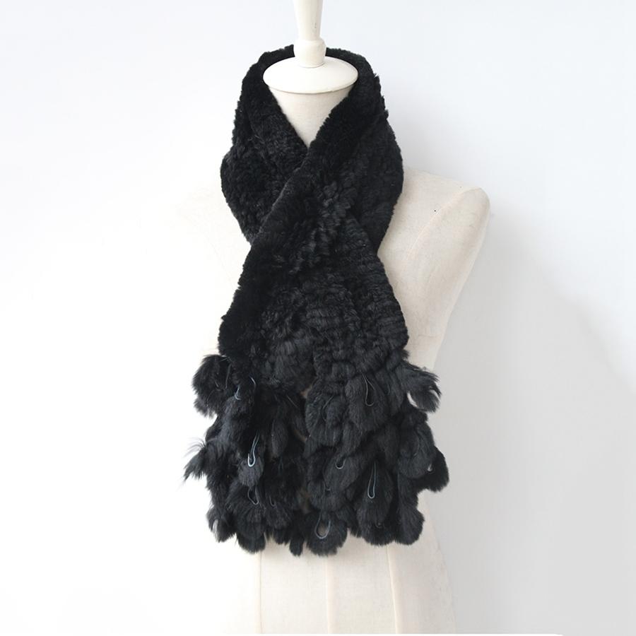 knitted rabbit fur scarf rabbit (2)