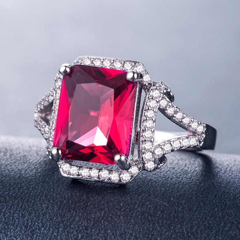 Red Diamond 4.3g 925 Sterling Silver ring for men Women luxury designer Vintage Charm New Arrival pandora birthday present Bridal promise