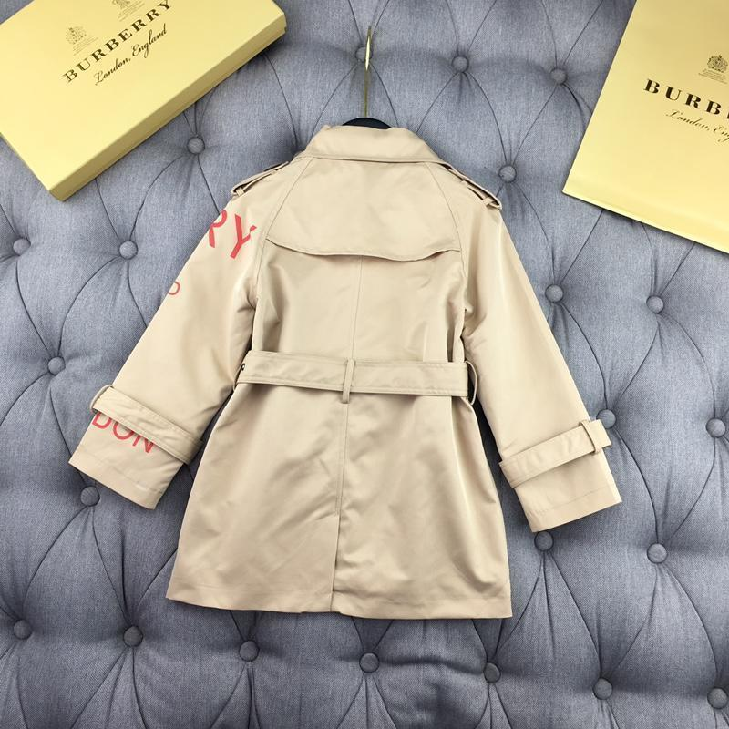 2019 European style windbreaker kids brand clothes girls kids coats fashion belt jacket kids jackets high quality baby girl clothes 72