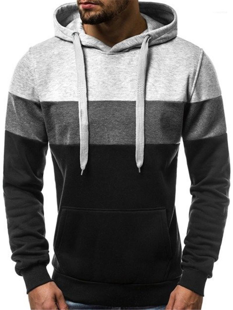NSJIB Mens Hooded Casual Hoodie Male Summer Long-Sleeved Solid Color Sweatshirt