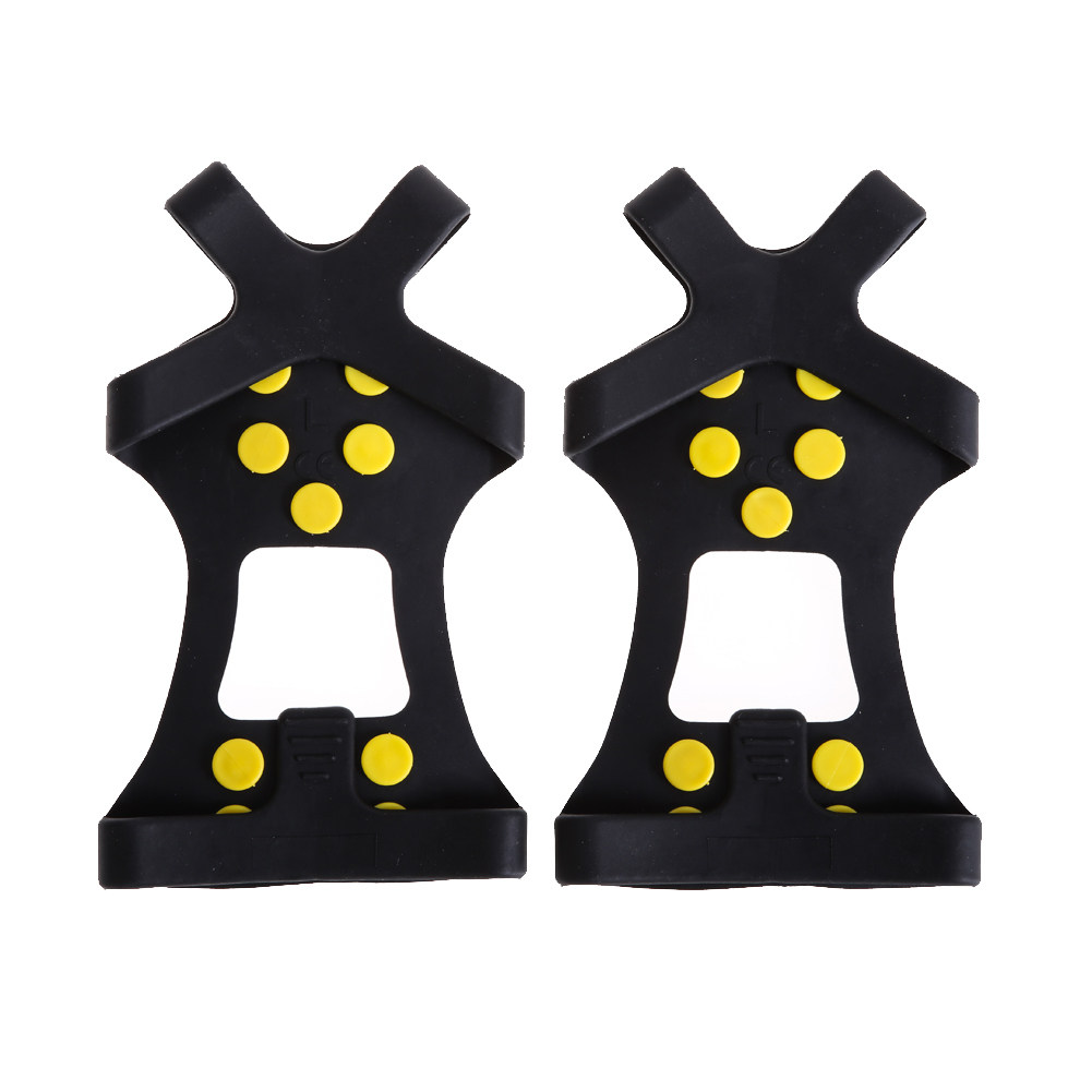 10 Universal Ice Snow Shoe Spikes Cleats Crampons Winter Climbing Safety Tool Anti Slip Shoes Spikes Cover S M L Xl
