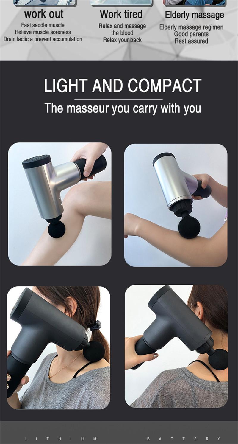 Fascial Gun Muscle Massaging Relax Recovery Soreness Pain Fascia Gun Relief Slimming Shaping Massager 4 Heads Gym Aiding (7)