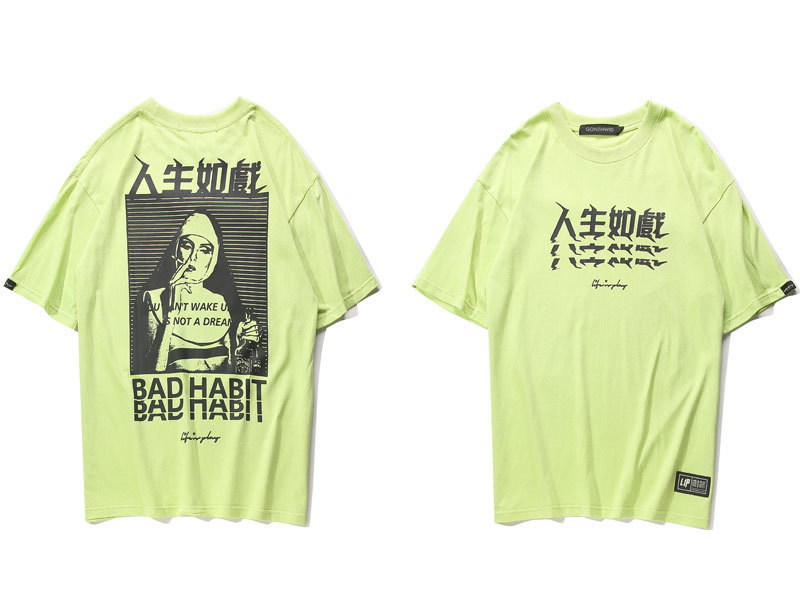 Chinese Characters Printed T Shirts 2