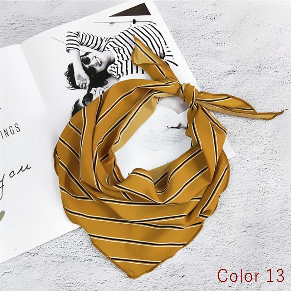 Soft Polyester Silk Womens Head Scarfs Fashion Print Art Christmas Gift Ball Neck Square Scarf Girls Hair Scarf Head Scarfs For Women Multiple Ways Of Wearing Daily Decor