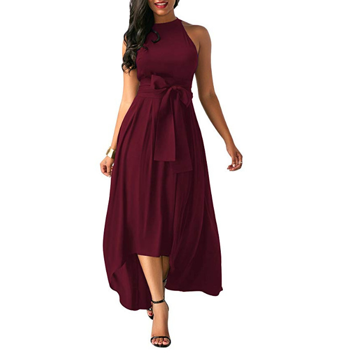 Explosion2019 speed sells Amazon Europe and the United States new women's bow belt dress short paragraph shawl two-piece