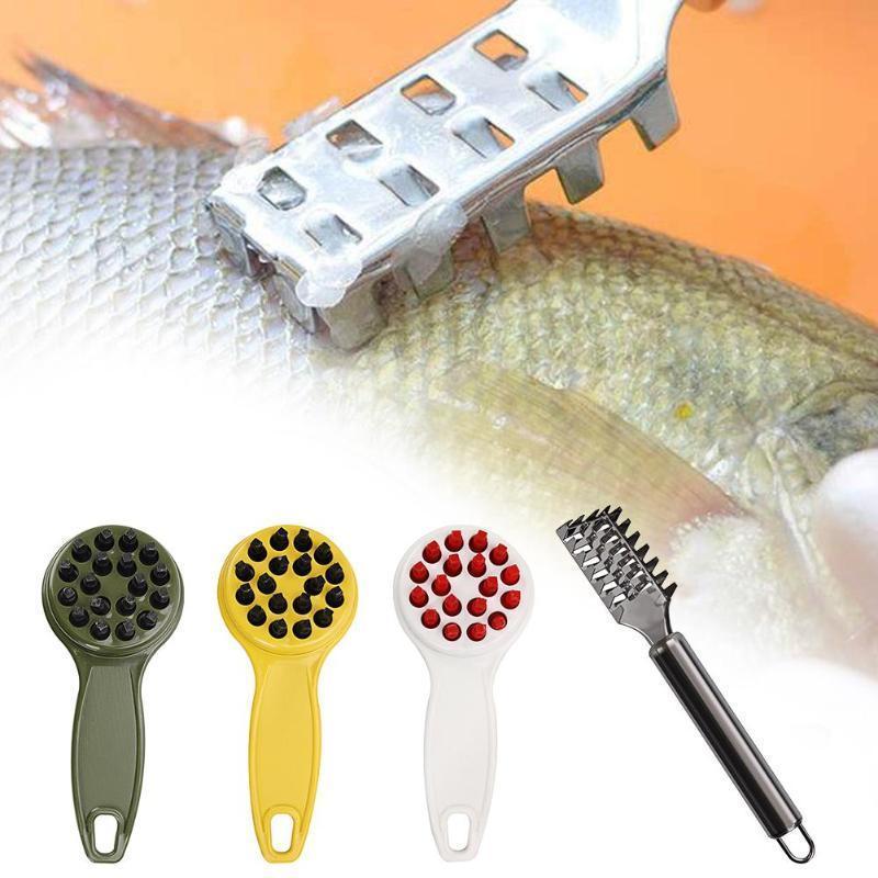 1 adet Balık Cilt Fırçası Kazıma Balıkçılık Ölçekli Fırça Rende Hızlı Kaldır Balık Bıçak Temizleme Soyucu Ölçekleyici Kazıyıcı