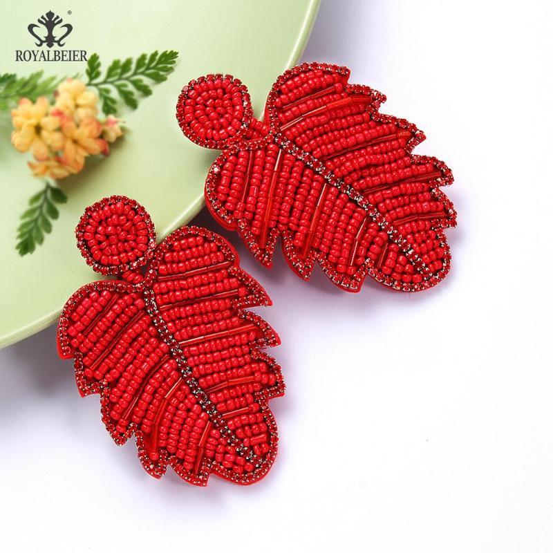 New red glass pearl handmade fashion jewellery//drop//dangle earrings,costume