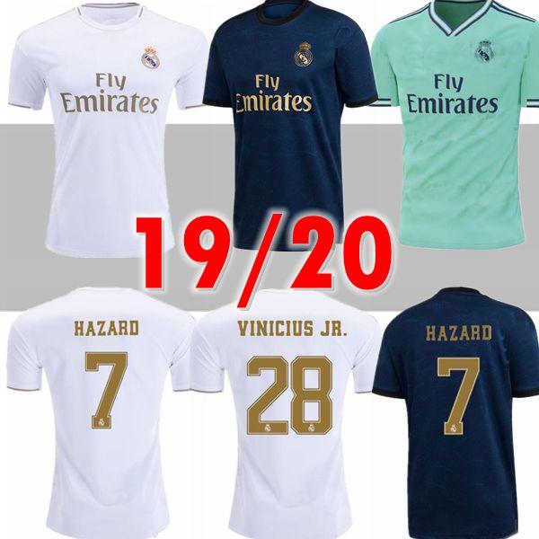2020 Real Madrid Hazard soccer jersey 2019 2020 real madrid jerseys BENZEMA SERGIO RAMOS KROOS 19 20 football jerseys maillot real madrid