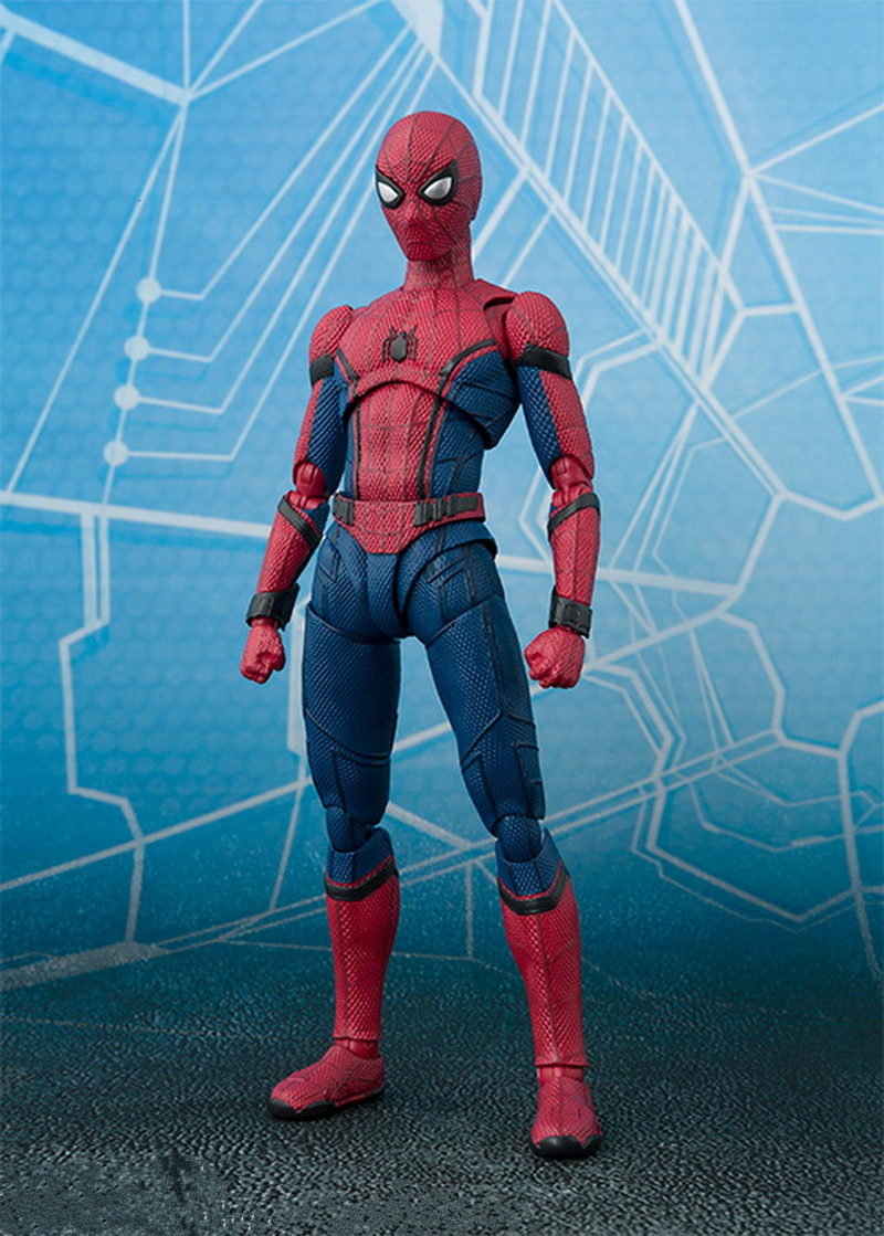 2017 New Spiderman Series Spider-Man PVC Action Figure Collectible Model Toy Christmas Gift for Kids 15cm (8)