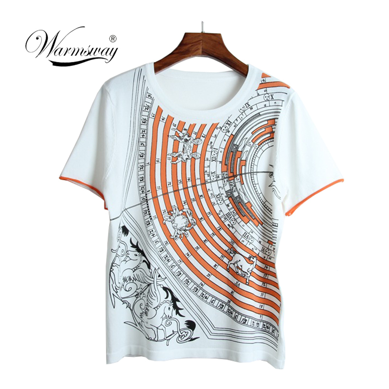 Brand High Quality Knitted Summer T Shirt Women Casual Short Sleeves T-Shirt Breathable Elasticity Kintwear Top O-Neck B-037