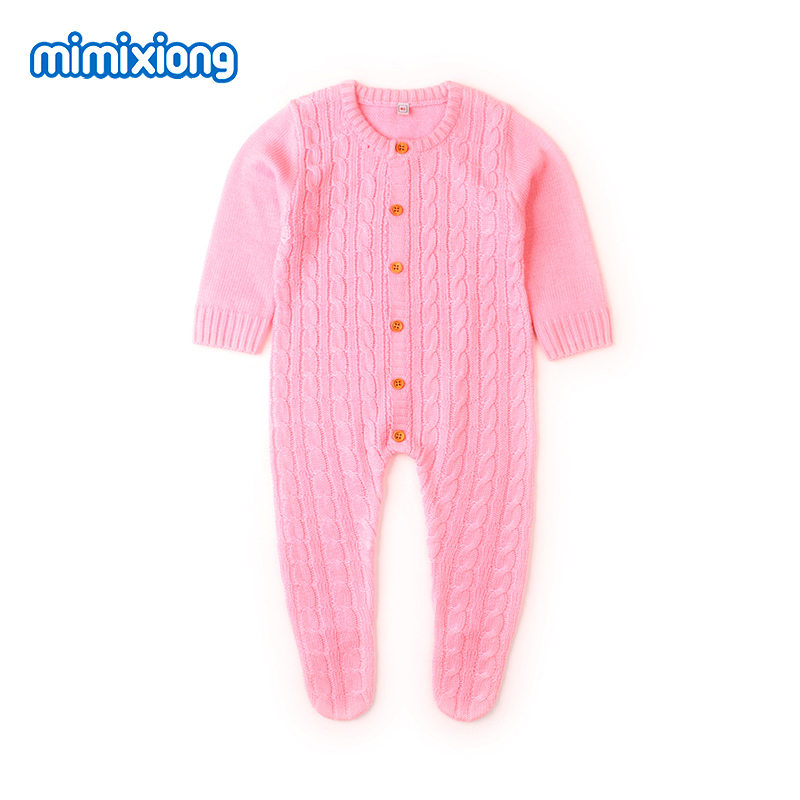 Newborn Baby Footie Spring Thin Toddler Boys Jumpsuit Outfits Summer Hollow Out Little Girls Overalls Long Sleeve Kids Playsuits