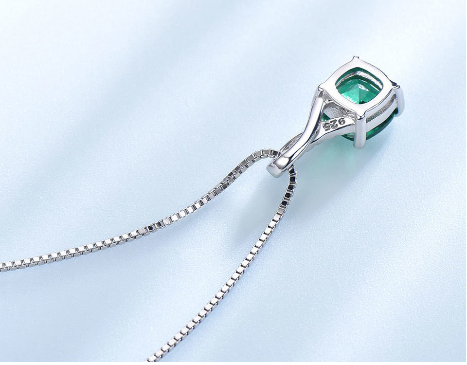 UMCHO Emerald 925 sterling silver jewelry sets for women S027E-1 pc (9)