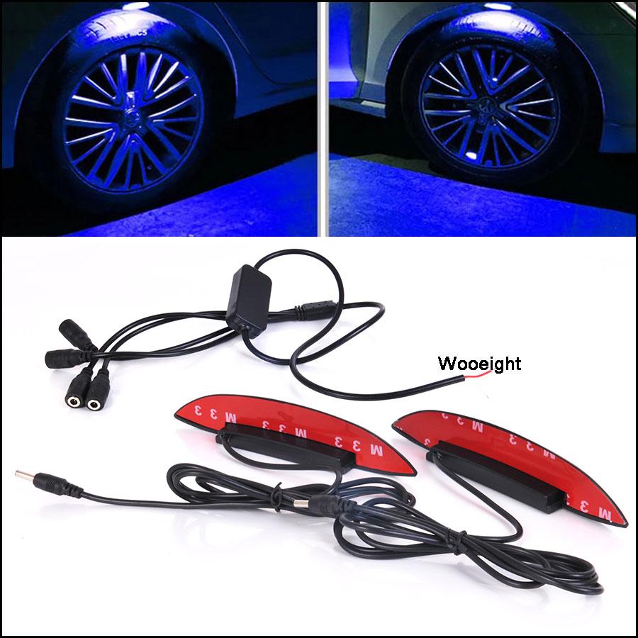 4Pcs Universal Multicolor Car Auto Wheel Hub Tire LED Decorative Atmosphere Light Lamp For BMW Benz Honda Civic VW Passat Kia (6)