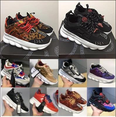 Chaussures Designer classique chaîne talons bas Hommes Hommes Sneakers réaction Luxe Femmes Femmes Sport Chaussures Baskets mode Casual Sneakers