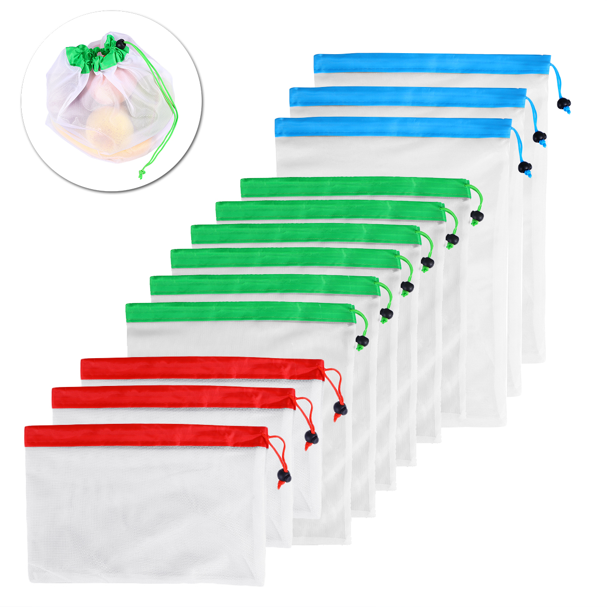 Reusable Mesh Produce Bags Washable Eco Friendly Home Package Jewelry Bags
