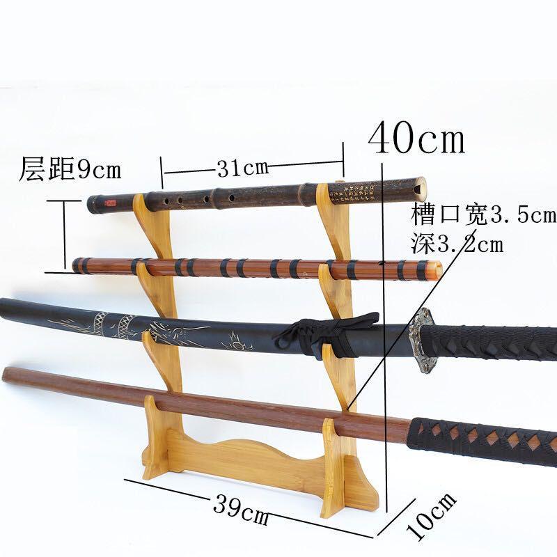 Display Japanese Samurai Sword Katana Wakizashi Tanto Holder Stand 3