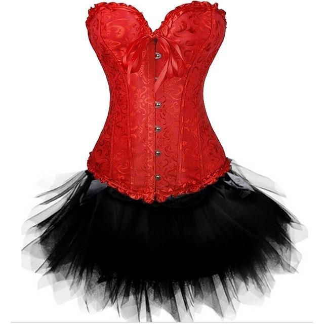Sexy-Gothic-Overbust-Corset-Skirt-Set-Lace-Floral-Steampunk-Waist-Cincher-Croselet-Corpetes-Tutu-Mini-Skirt.jpg_640x640 (2)