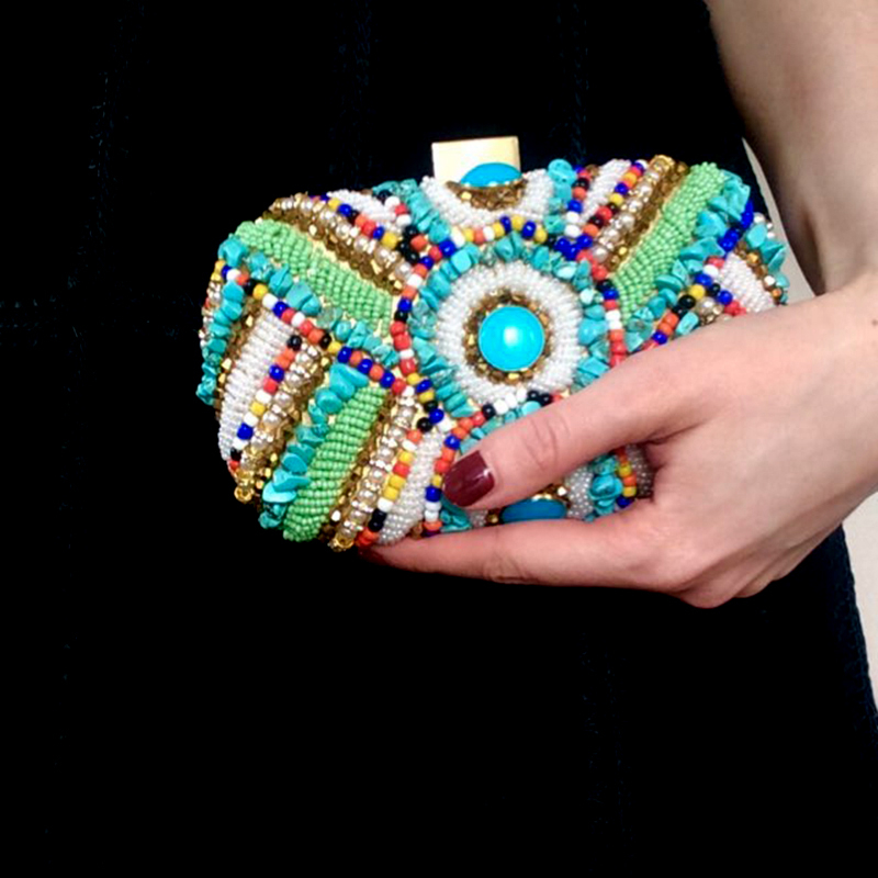 Vintage Colorful Beaded Stones bags (7)