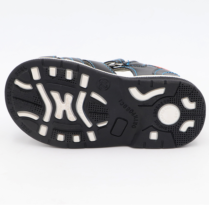 Cute Eagle Summer Orthopedic Sandals Pu Leather Toddler Kids For Boys Closed Toe Baby Flat Shoes Size 20-30 New Q190601
