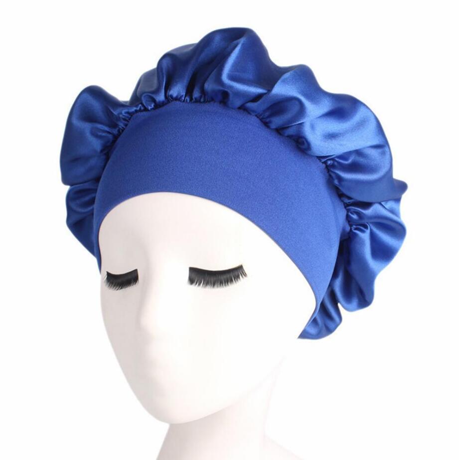 Ajuster les Femmes Doux Satin Soie Sleeping Cap nuit sommeil soins capillaires écharpes Bonnet
