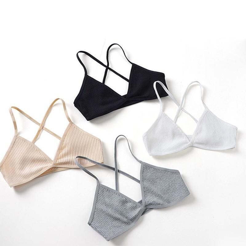 Uma Peça Ultra-fino Bralette Fio Sutiãs Sem Costura Livre Para As Mulheres Sólidos Lingerie Sexy Roupa Interior Bonito Voltar Sutiãs Das Mulheres