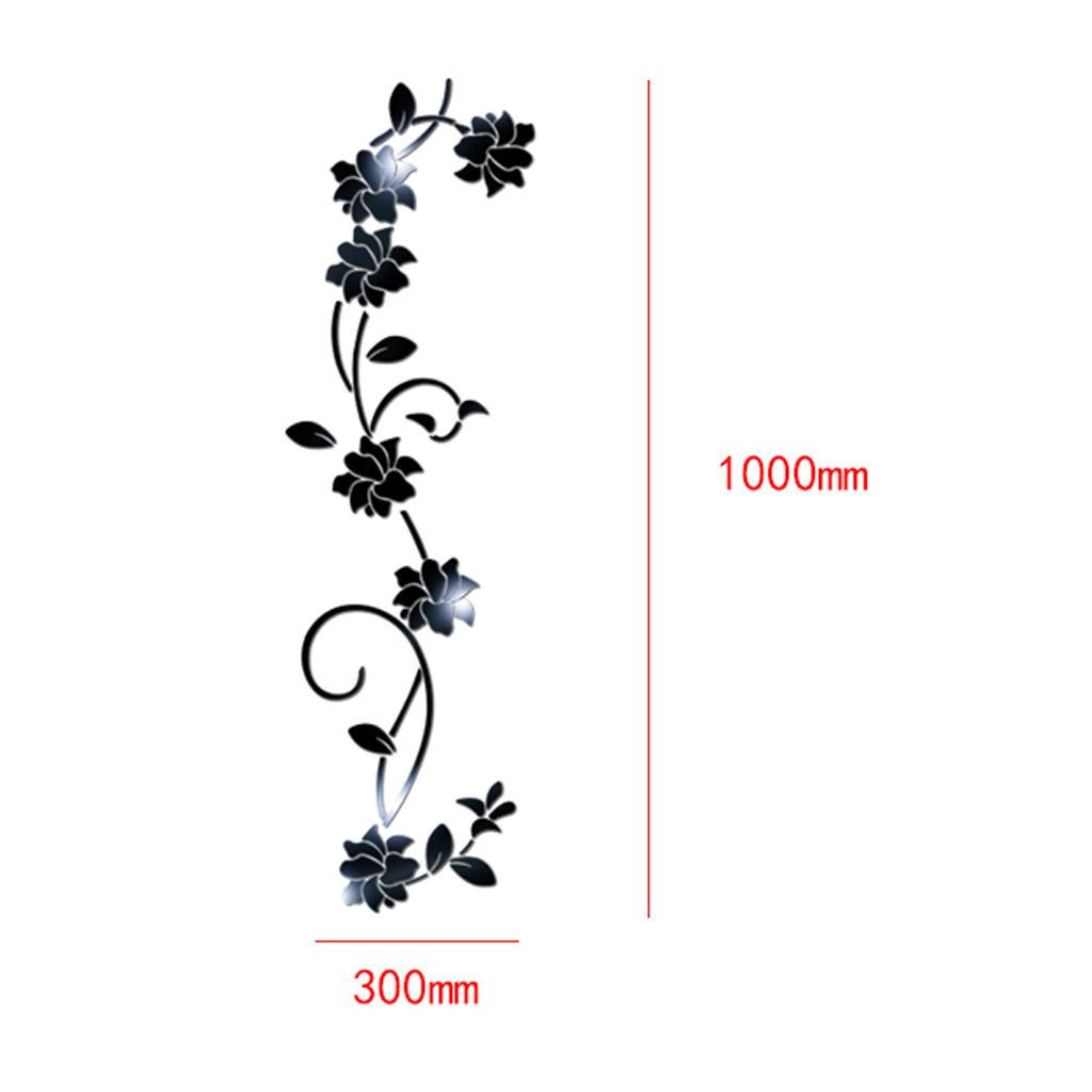 3D stikcers de pared Forma de flor Acrílico Etiqueta de la pared 100X30CM moda creativa diy Sofá ajuste Pegatinas de pared Decoración caliente