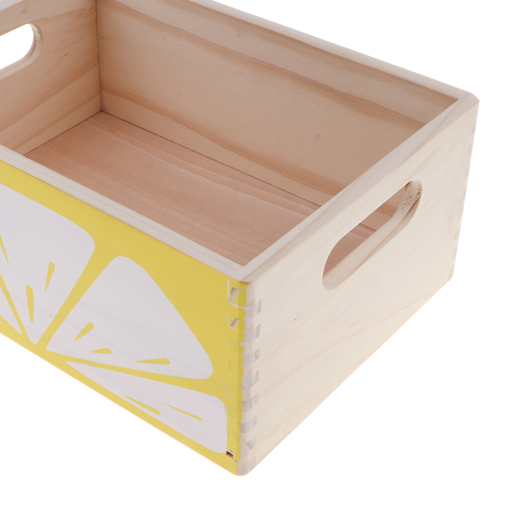 Creative Wooden Lemon Storage Box for Ketchup Play Food Kitchen Pretend Play Cooking Props Chef Role Play Preschool Toys