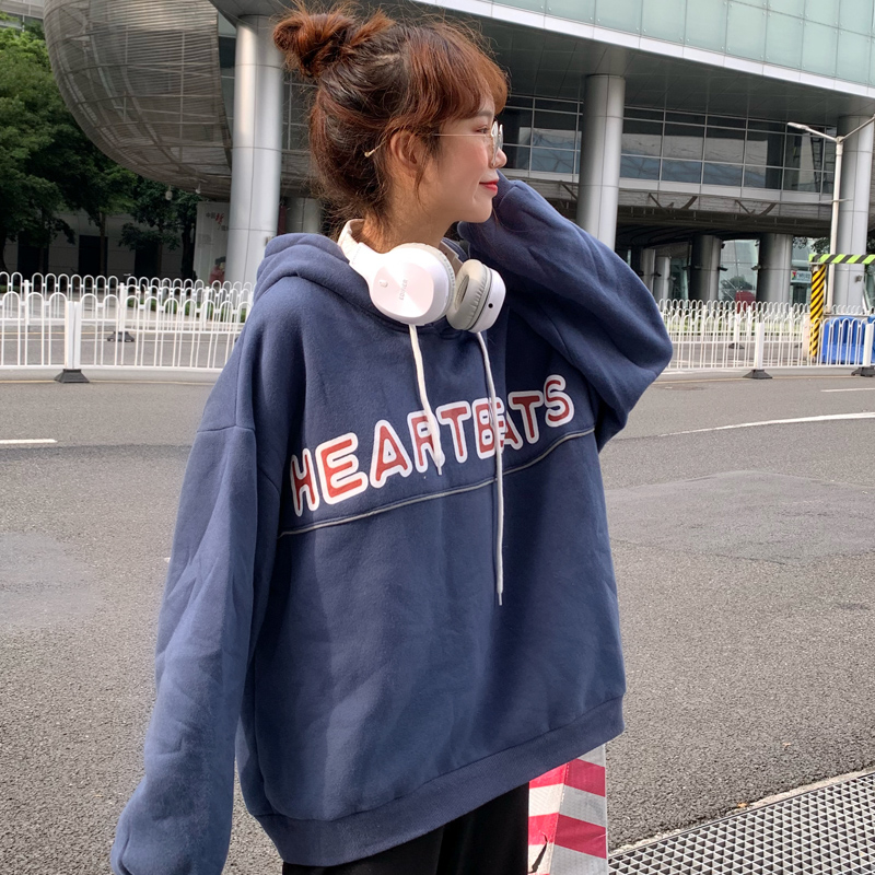 Hoodies Women Large Loose Letter Printed High Quality Soft Korean Style Thin Hooded Pullovers Ulzzang Harajuku Womens Clothing SH190823