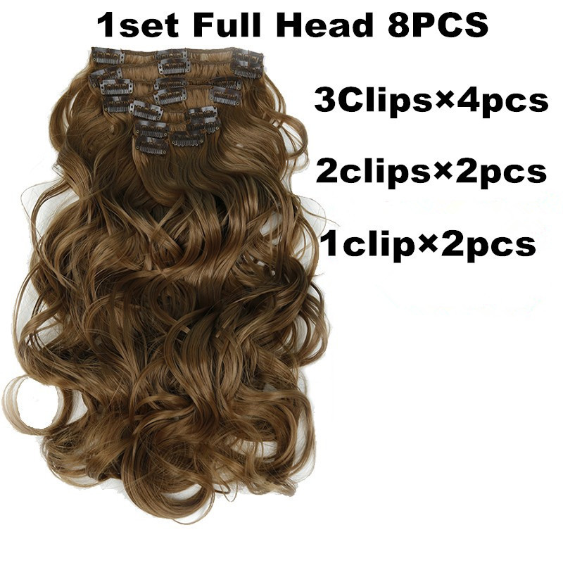 1-set-8-Pieces-False-Full-Head-Wavy-Clip-in-Hair-Extensions-For-Women-Hairpieces-Wavy