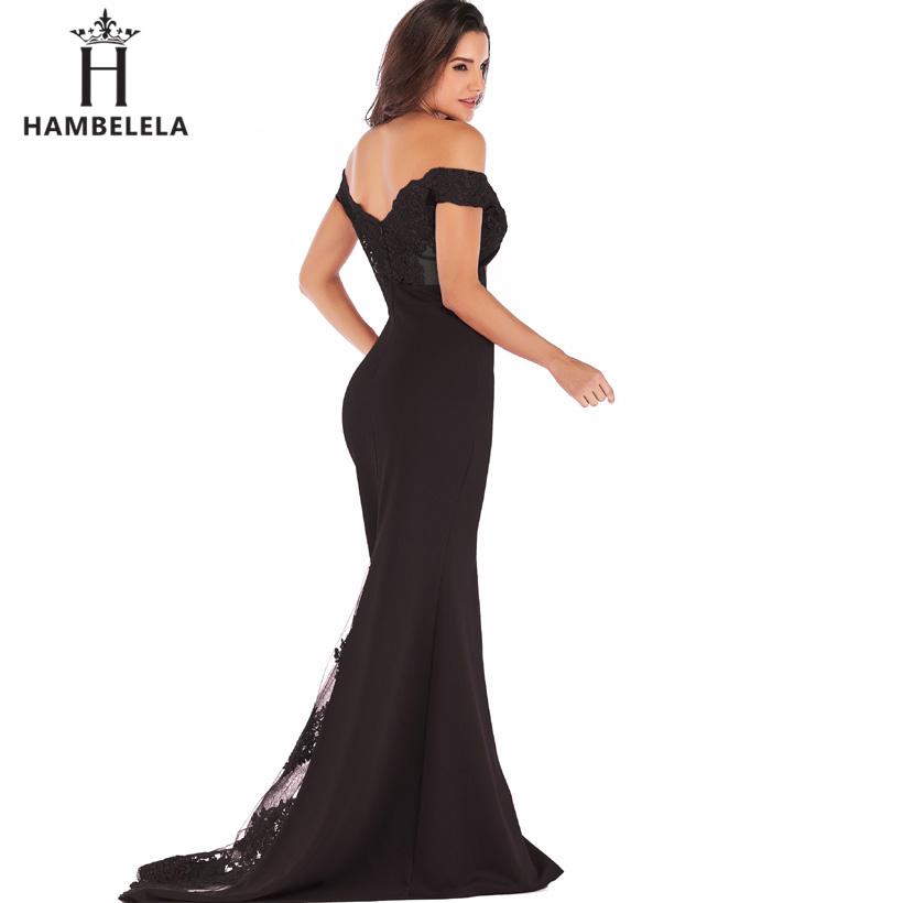 HAMBELELA Vestido De Festa Pink Black Red Mermaid Dress Lace Top Bodice Slim Long Formal Party Dress Charming Wedding Party Gown (9)