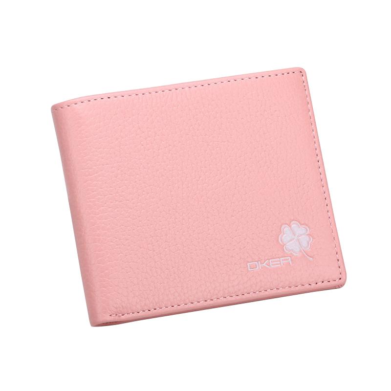 Cute Cat Bifold Mini Wallet Womens Short Coin Purse Card Holder Case Money Clip