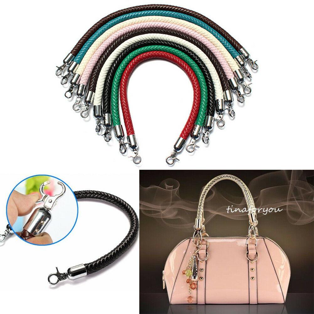 Leather Braided Purse Handle Shoulder Bags Belt Replacement Handbag Strap DIY US