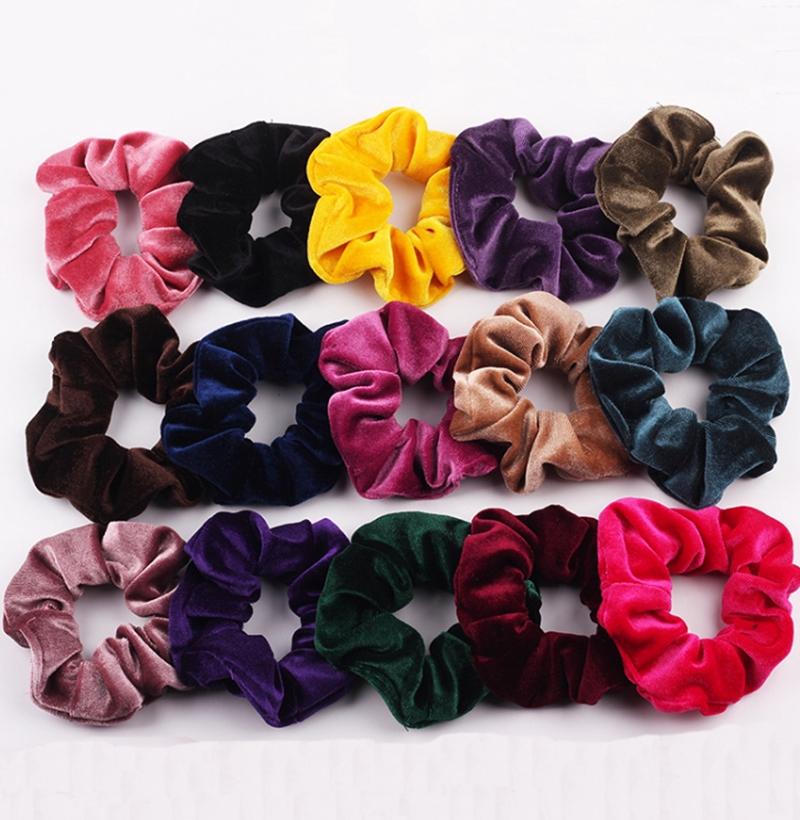 QA/_ Hair Band Rope Camellia Flower Ponytail Scrunchie Hairband Accessory Natur