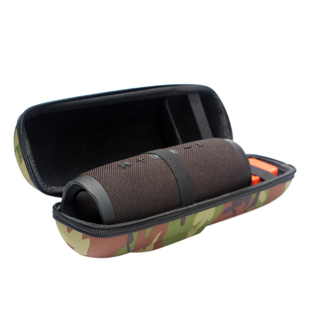 Camuflaje Funda de transporte dura Cubierta con cremallera Bolsa Almacenamiento Hombro de viaje para Jbl Charge 3 Altavoz Bluetooth