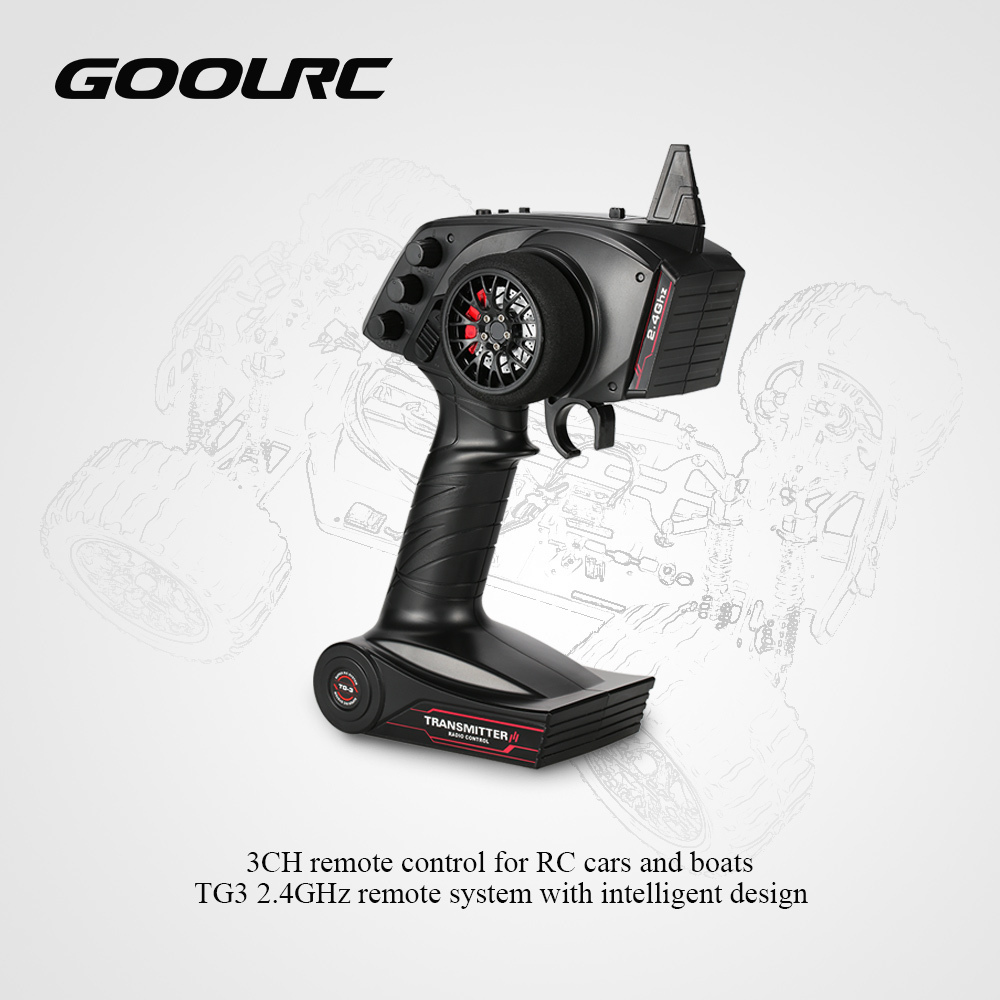 Rc Transmitter For Rc Car Boat Original Goolrc Receiver With Digital Tg3 2.4ghz 3ch Car Accessories Remote Control With Receiver J190719