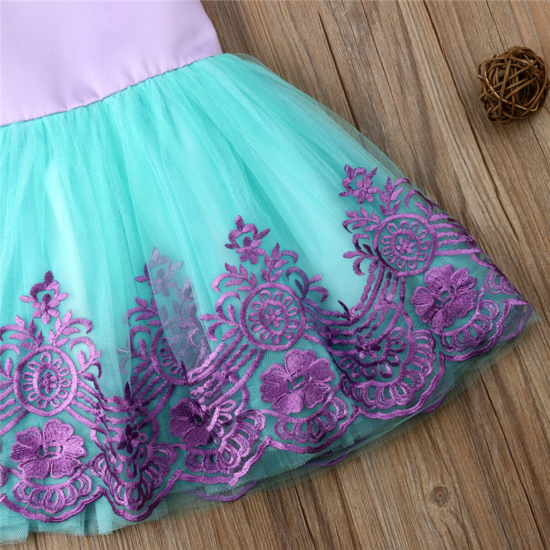 Kids Dresses For Girls Lace Kid Princess Pageant Bridesmaid Formal Gown Prom Tutu Dress Baby Girl Clothes J190612