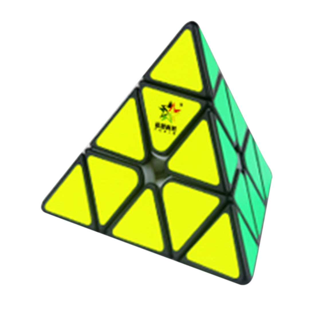 YuXin Huanglong Magnetic Pyramid Shape Magic Cube Puzzle Toy for Brain Training - Colorful Bright Red