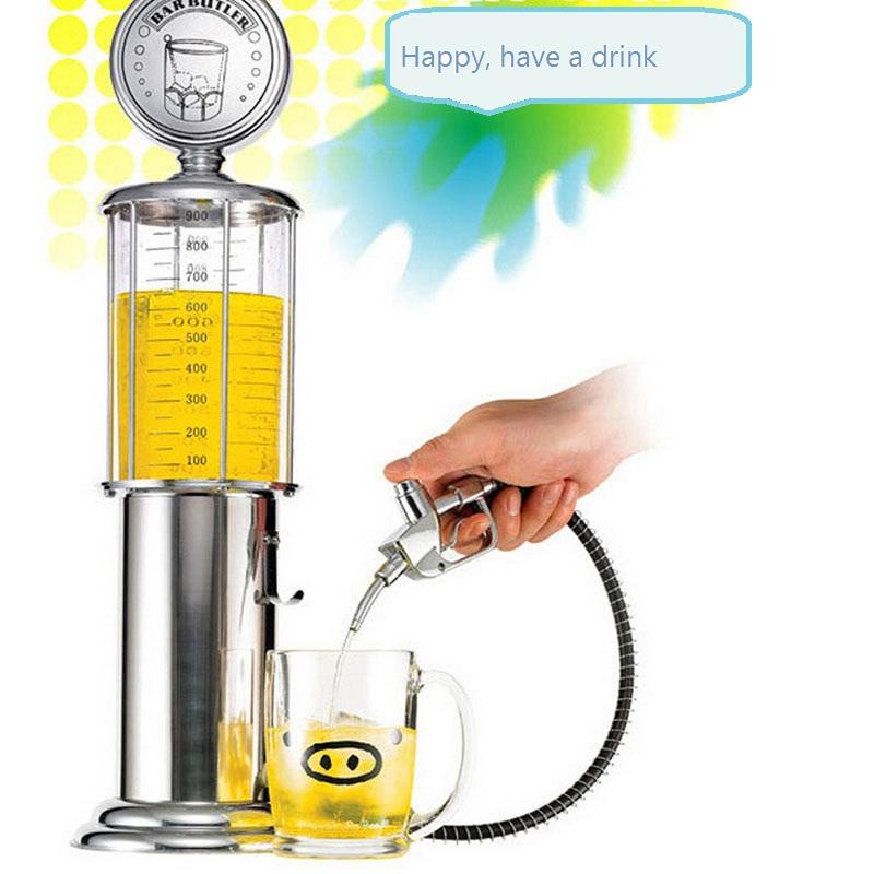 Yaratıcı Benzin Istasyonu Çift Tabanca Içme Makinesi Topu Bira Makinesi Bar Özel Dağıtım Makinesi