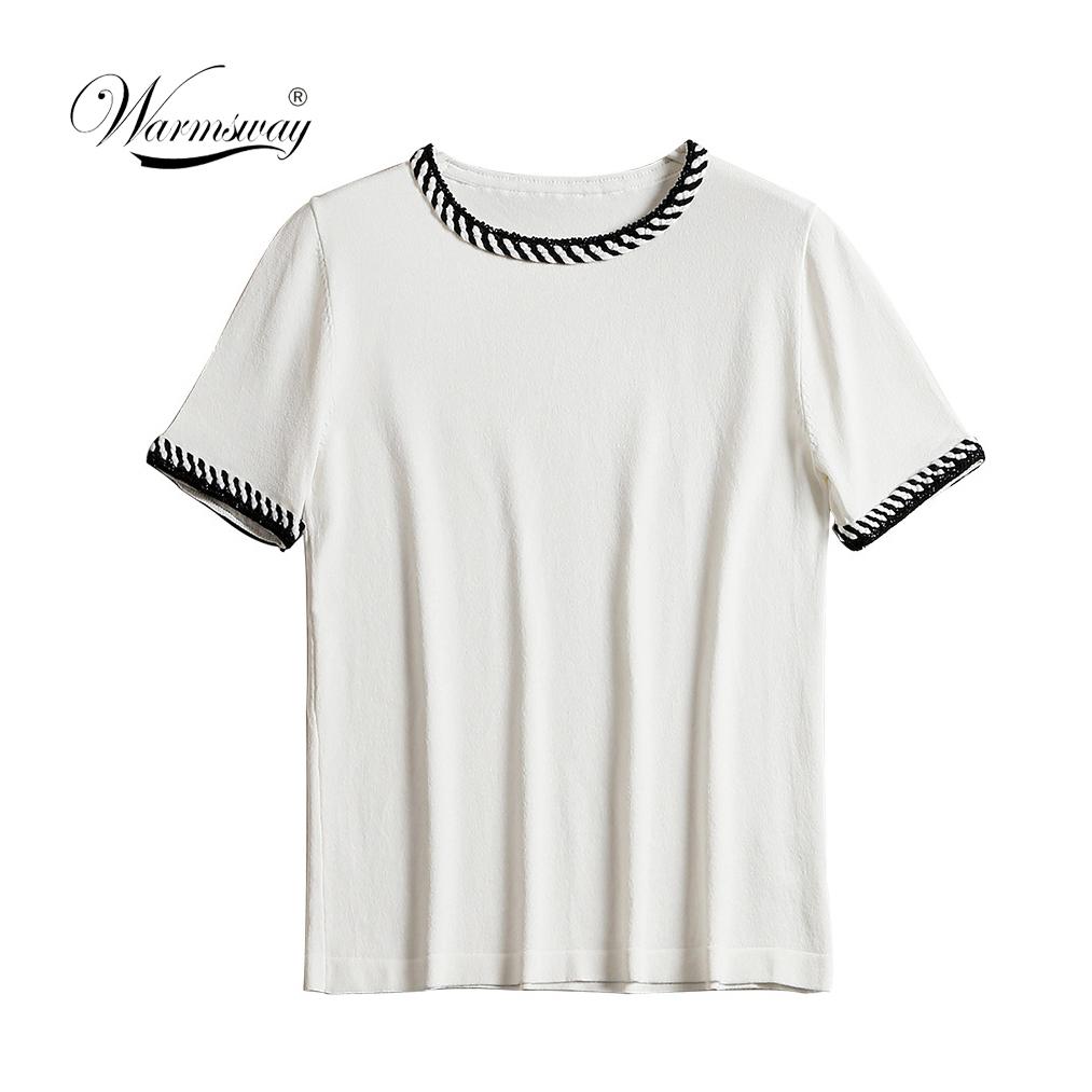 Female Elegant Minimalist Summer Tops O-Neck Short Sleeve viscose T-Shirts Women Fashion Tees Casual Brand TShirt B-050