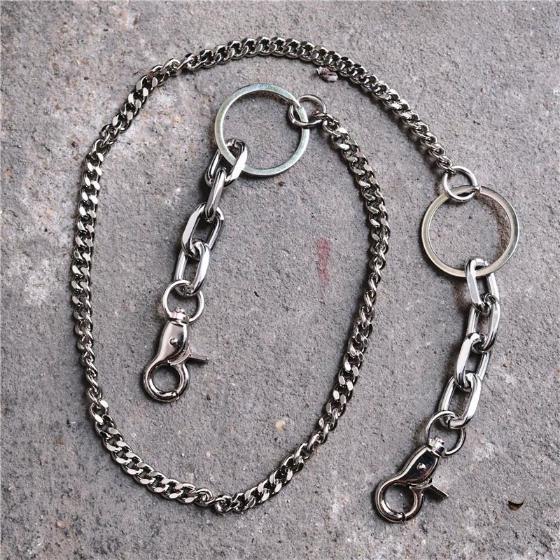 Fashion Punk Hip-hop Trendy Belt Waist Chain Men Women Dance Pants Chain Keychain Jeans Silver Clothing Accessories Jewelry