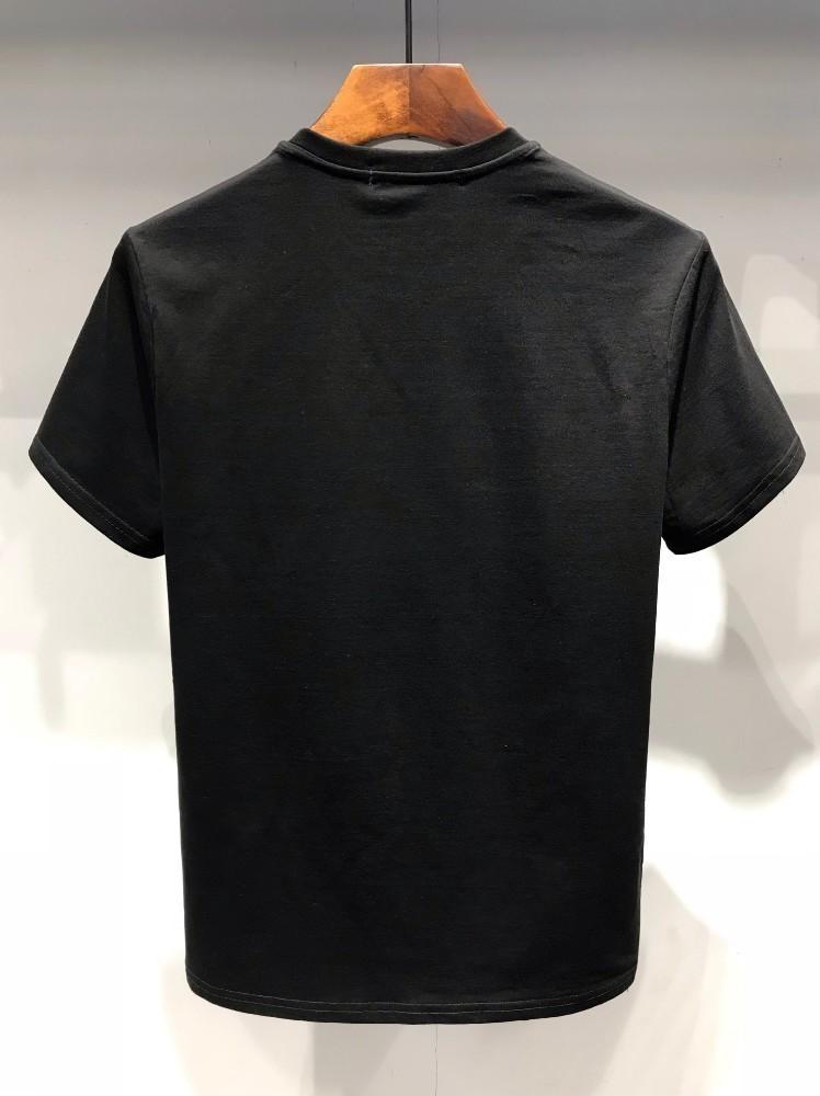 Erkek T-shirt gevşek kişilik geri kırmızı ejderha baskı çift kısa sleevep 2019 newor
