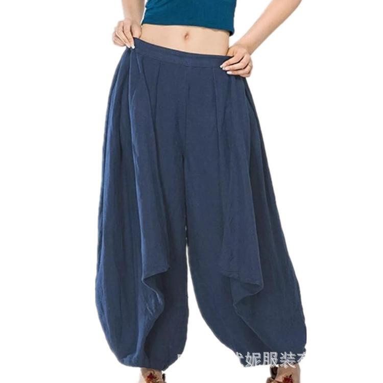 Trendy2019 Street Season Trendsetter Abito-abito Pantaloni gamba larga Grado di tenuta Facile Haren Pantaloni il tempo libero