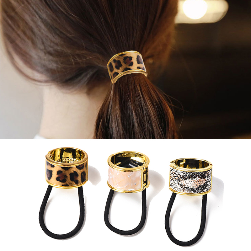 Frauen Mädchen Metall Katze Haarband Haar Seil elastische Krawatte Pferdesc  BC