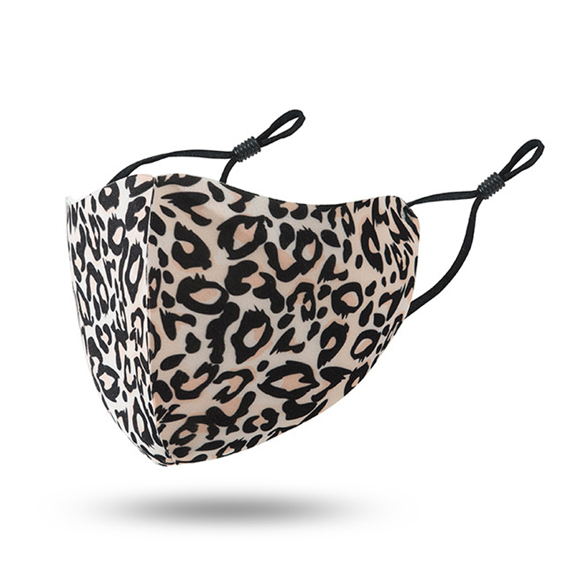 face mask designer adult Leopard print fashion reusable face masks dustproof smog-proof breathable washable mask adjustable ear-buckle mask