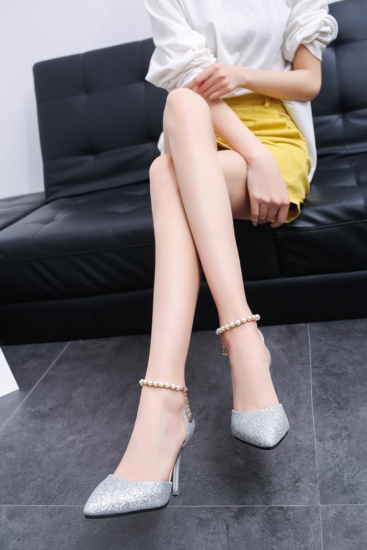 Großhandel Kleid Schuhe Feiyitu 2019 Neue Sommer Weiße Perle Hochzeit High Heels Braut Kleid Zeigen Party Sandalen Zwei Stücke Ein Wort Schnallen Von