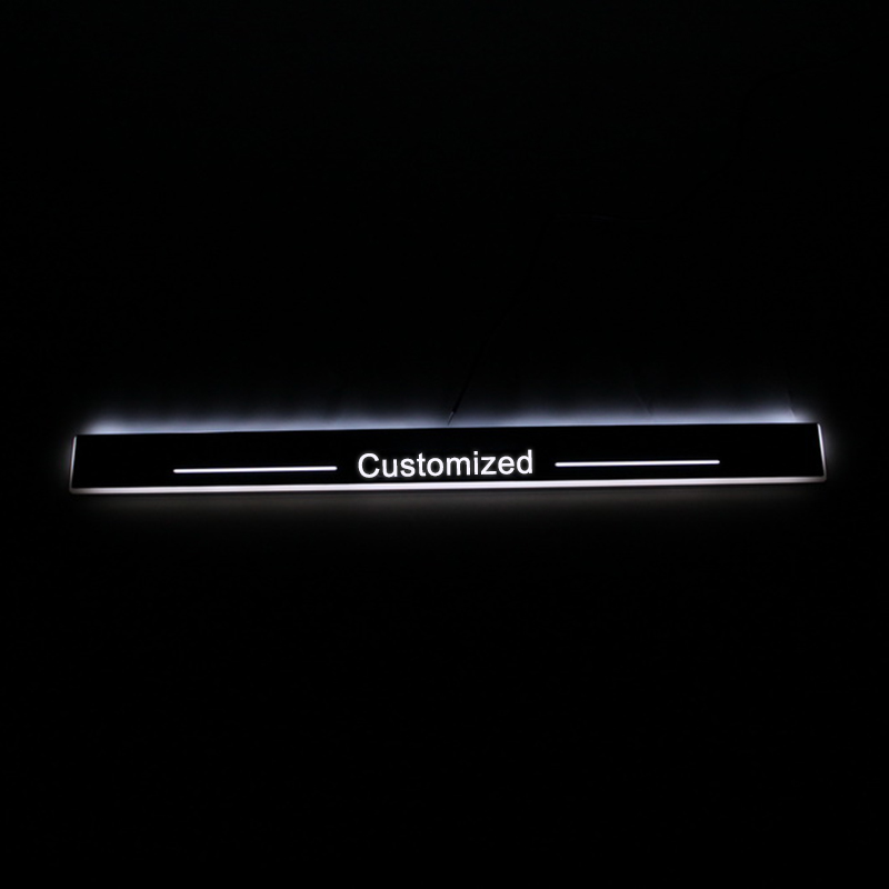wholesale Trim Pedal LED Car Light Door Sill Scuff Plate Pathway Dynamic Streamer Welcome Lamp for Toyota Prado 120 LC120 FJ120