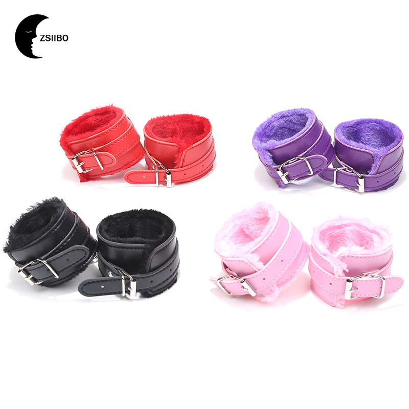PU Leather Handcuffs Ankle Cuff Restraints Sex Bondage Bracelet BDSM Erotic Toys Sex Toy For Couple Erotic Accessories SK01