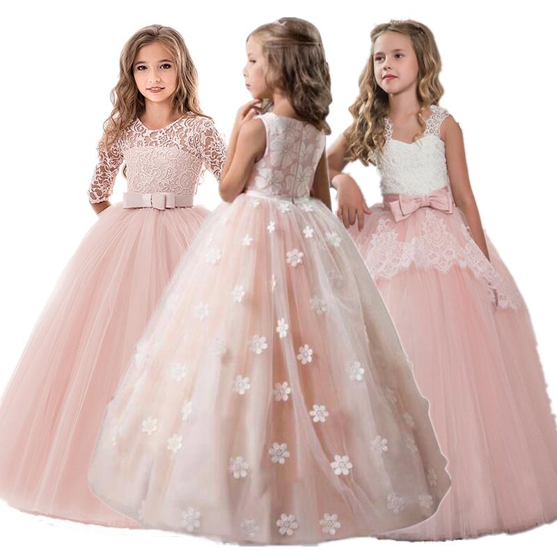3-12Yrs Kid Girls Party Dress Abiti da Prestazione di Natale Abito da Sposa Abiti per Bambini Bambini Principessa Abito da Ballo