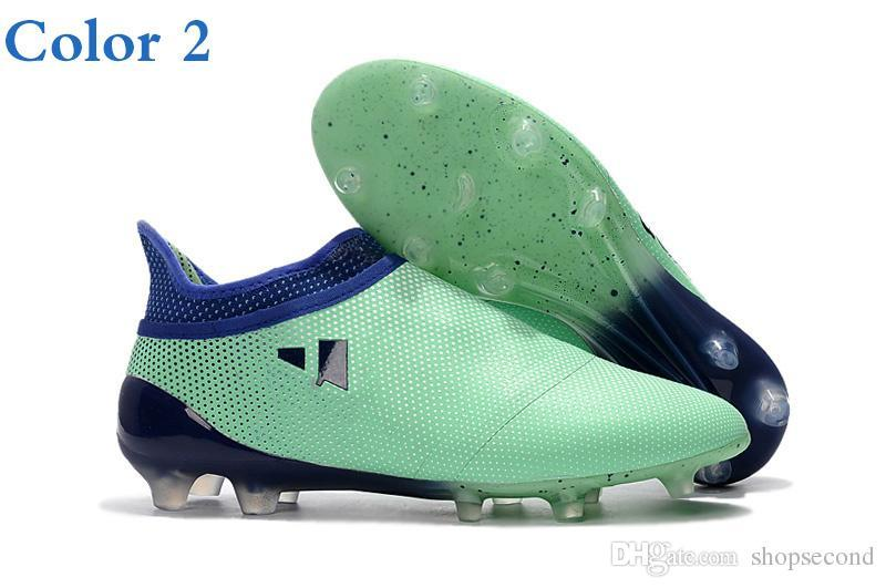 men soccer shoes cleats x 17.1 Life Color purechaos fg champagne gold outdoor soccer boots high quality x16.1 purechaos football boots